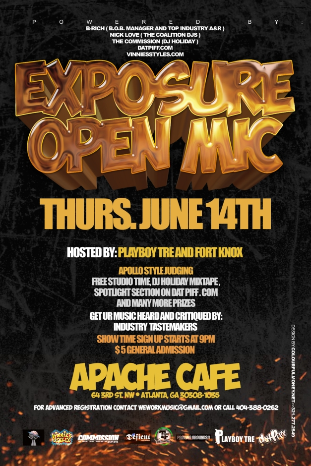 Open Mic: 6/14 in Atlanta GA at Apache