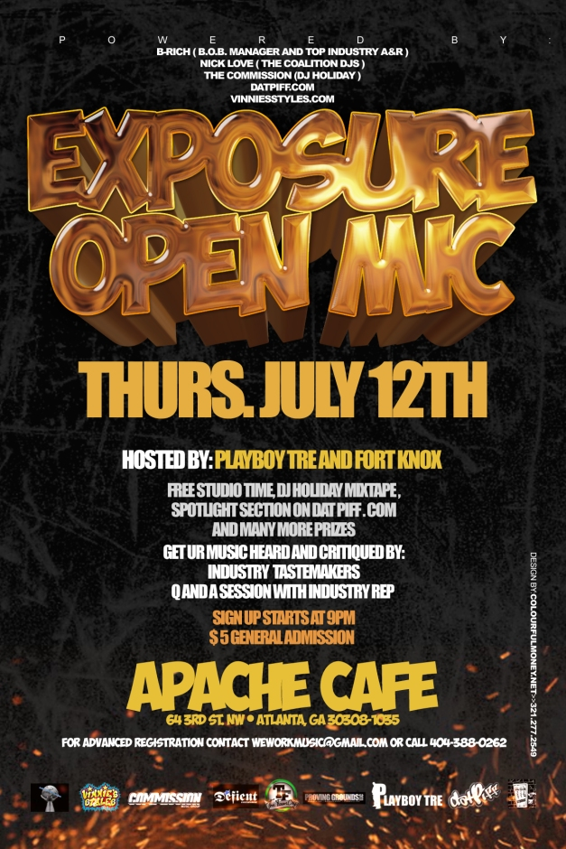 Talent Showcase, Thursday July 12th in ATL